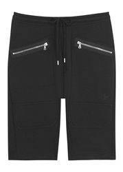 Markus Lupfer Black Cotton Jersey Shorts