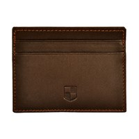 Huckle And Harper Brown Lambskin Card Holder