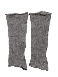 Isabel Benenato Linen Knit Fingerless Gloves