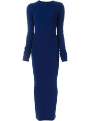 Extreme Cashmere 'No6' Base Long Dress Blue