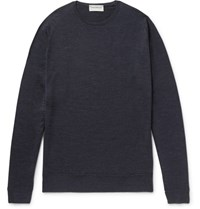 John Smedley Medley Lundy Merino Wool Weater Charcoal