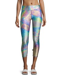 Terez Tall Band Capri Performance Leggings Multi
