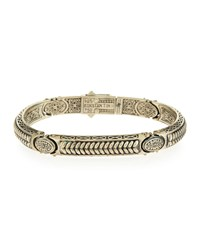 Sterling Silver Braided Id Bracelet Men's Konstantino