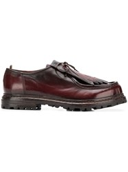 Officine Creative Fringed Derby Shoes Red