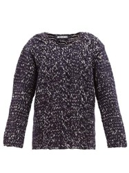 Jacquemus Berger Cable Knit Wool Sweater Navy
