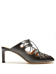 The Row Dixie Leather Mules Black