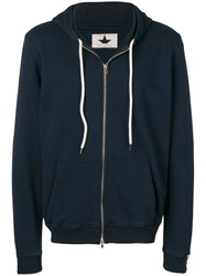 Macchia J Logo Tape Zip Up Hoodie Blue
