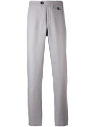 Oliver Spencer Tab Trousers Men Cotton Linen Flax 36 Grey