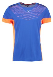 Mizuno Cooltouch Venture Sports Shirt Nautical Blue Clown Fish