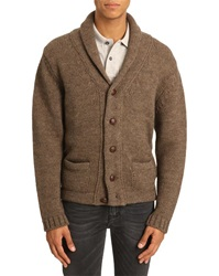 Menlook Label Malcolm Beige Alpaca Wool Blend Cardigan
