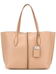 Tod's Double Handles Tote Nude Neutrals