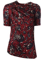 Etoile Isabel Marant Floral Knot Detail Top Red