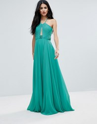 Forever Unique T Bar Back Maxi Dress Turquoise Green
