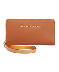 Dooney And Bourke Large Zip Around Wristlet Natural