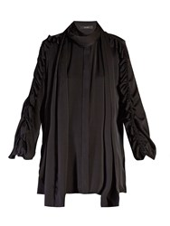 Ellery Audacity Ruffled Sleeve Blouse Black