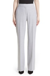 Max Mara Women's Alessia Stretch Wool Pants Light Grey