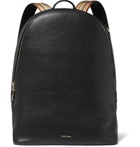 Paul Smith Full Grain Leather Backpack Black
