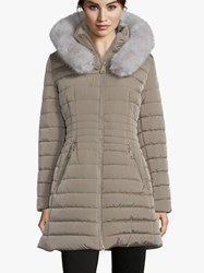 Betty Barclay Quilted Hooded Coat Dune