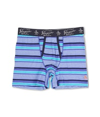 Original Penguin Fashion Boxer Brief Lavender Stripe Men's Underwear Gray