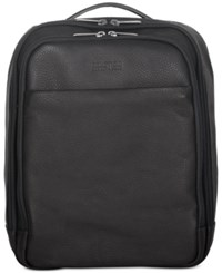 Kenneth Cole Reaction Colombian Leather Computer Backpack Black