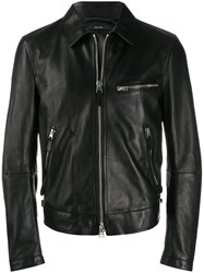 Tom Ford Classic Leather Jacket Black