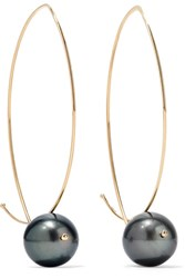 Mizuki 14 Karat Gold Pearl Earrings Usd