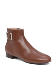 Delman Marie Leather Ankle Boots Tobacco