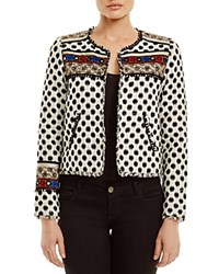 Twelfth St. By Cynthia Vincent Twelfth Street By Cynthia Vincent Embroidered Silk Jacket Ivory Black