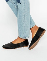 Vagabond Ayden Flat Satin Shoes Black