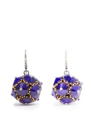 Bottega Veneta Crystal Ball Earrings Blue