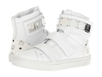Mcm High Top W Brass Plate Detail White
