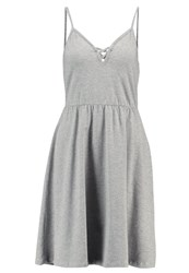 Noisy May Nmnayeem Jersey Dress Light Grey Melange Mottled Light Grey
