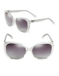 Calvin Klein 58Mm Square Sunglasses Clear