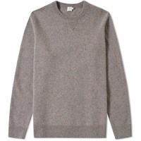 Sunspel Luxury Crew Knit Jumper Neutrals
