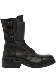 Bikkembergs Squadron Buckled Leather Boots Black