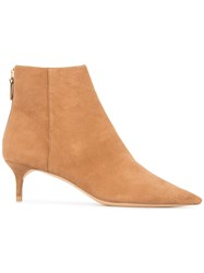 Alexandre Birman Pointed Ankle Boots Brown
