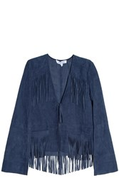 Elizabeth And James Zadeh Suede Jacket Navy