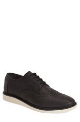 Toms 'Brogue' Wingtip Men Black Leather