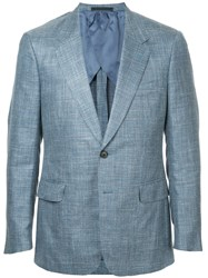 Gieves And Hawkes Classic Fitted Blazer Blue