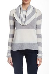 Cullen Stripe Off Shoulder Cashmere Sweater Multi