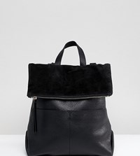 Accessorize Lydia Black Leather Backpack 03 Black