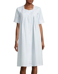 Miss Elaine Embroidered Nightgown Blue
