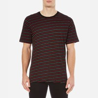 Rag And Bone Men's Colin Striped T Shirt Black Red Black Red