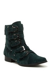 Penny Loves Kenny Swish Velvet Ankle Boot Green