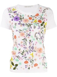 Alice Olivia Floral T Shirt White