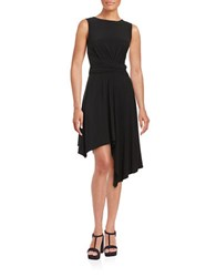 Taylor Knit Asymmetrical Dress Black