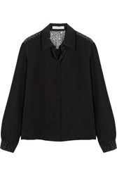 See By Chloe Sequin Embellished Silk Chiffon Blouse Black