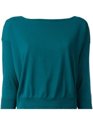 Roberto Collina Three Quarter Sleeve Jumper Women Cotton Xs Green