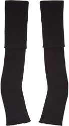 Stella Mccartney Black Long Fingerless Gloves