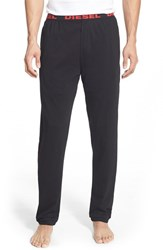 Men's Diesel 'Umlb Massi' Lounge Pants Black Red